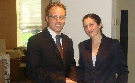 Park Hyatt Assistant Manager Dustin Marshbank, Tea Expert & Server Maria Garcidvenas
