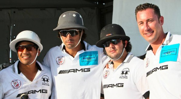 Team AMG. Pelon Escapite, Nacho, Figueras, Michael Smith Liss, and an unidentified player. Photo by Tony Powell
