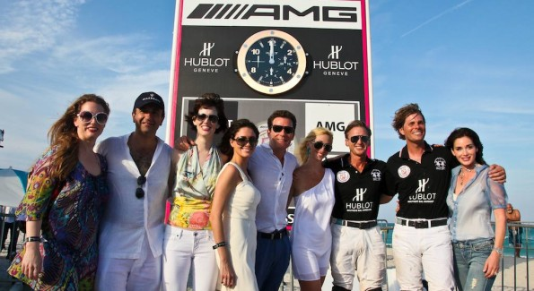 The gang from DC and Europe moments after Team Hublot won the AMG Miami Beach Polo World Cup VI. Photo by Tony Powell