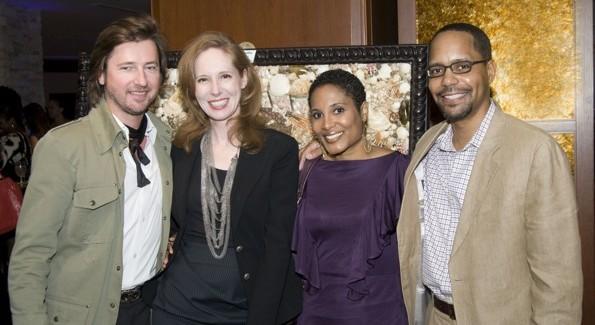 Muleh's Christopher Reiter, Juliana Glover, Center for Aesthetic Modernism Lisa and Dr. Monte Harris