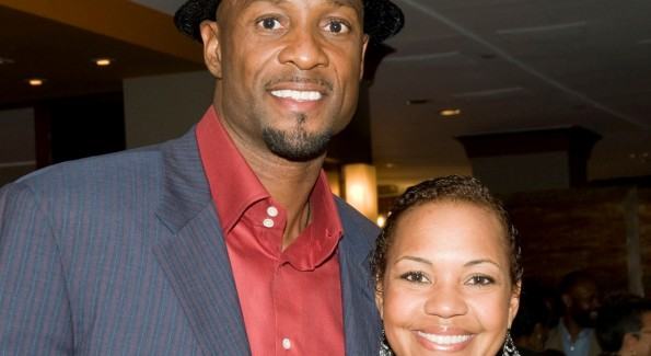 Philanthropist & Georgetown University Graduate Alonzo Mourning with Stacie Scott Turner