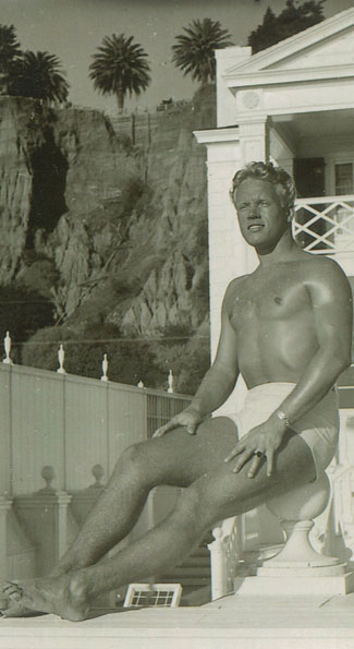 Wyatt Dickerson, poolside in Hollywood in 1946