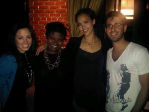 Nadine Namoff, Makeda Sackey-Saggau, Jessica Alba & Micha Weinblatt