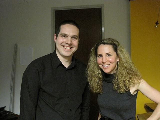 Nart Villenueve with Amy Senger at Palantir Night Live