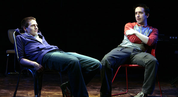 Sam Ludwig and James Gardiner star as Jeff and Hunter. Photo by Karin Cooper.