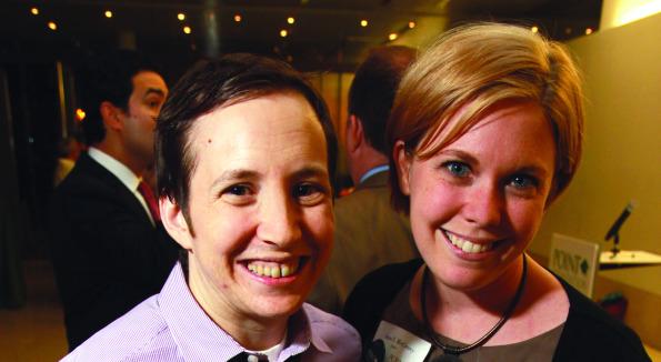 Point Foundation Scholars Caeden Dempsey and Anna McCrerey
