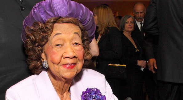 Dorothy Height at the Joint Center for Political and Economic Studies Annual Dinner in 2008. (photo by Tony Powell)