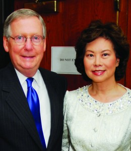 Sen. Mitch Mitchell and Elaine Chao