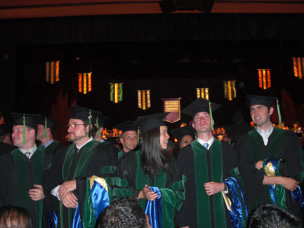 Medical School Graduates Eager to recieve diploma!