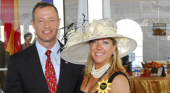 Maryland Governor Martin O'Malley and Lynni Megginson (photo by Kyle Samperton)