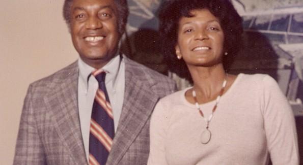 Peter L. Robinson Jr. and Nichelle Nichols
