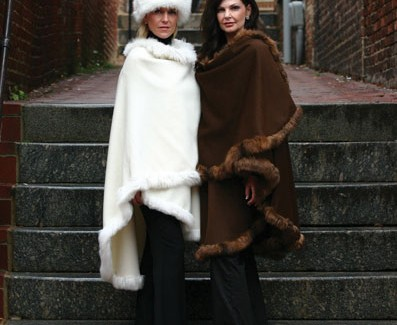 Alpaca International Signature Suri alpaca capes ($1,200); 5335 Wisconsin Ave., Chevy Chase, NW and 206 Main Street Annapolis, Md.; www.thegoldoftheandes.com