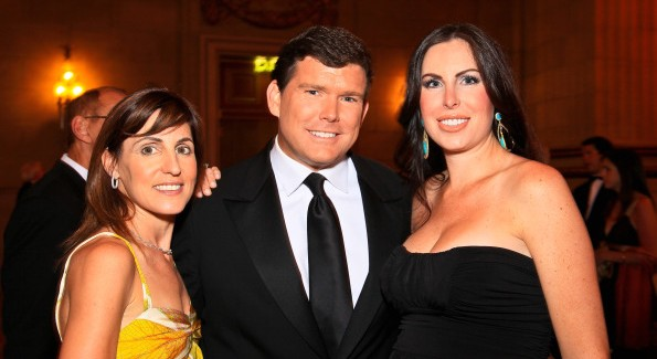 Jenn Haber, Bret and Amy Baier at the Heart's Delight Vintner's Dinner. Photo by Tony Powell
