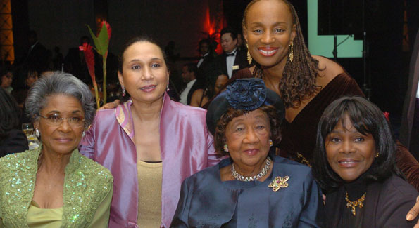 Dorothy Height with Nancy Wilson (left) and friends.
