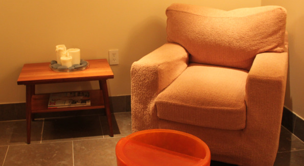 Manicure/Pedicure Area at The Spa Room