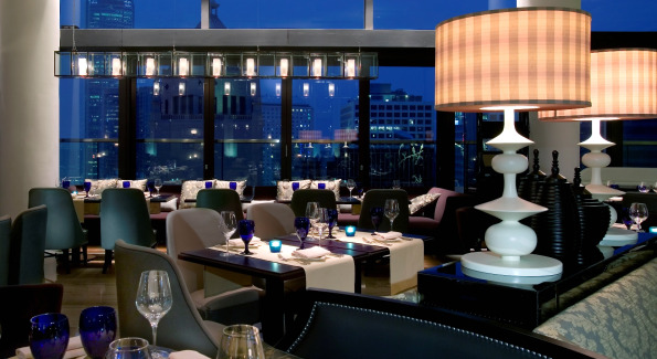 Inside the Azure Restaurant at Hotel LKF