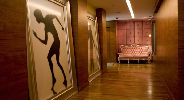 JIA's artful lobby corridor