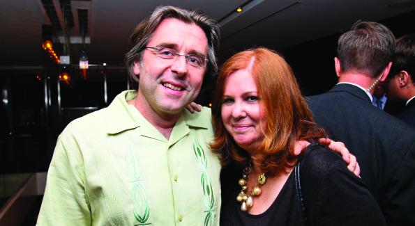 Neil Barrett and Susan Koch. Photo by Tony Powell.