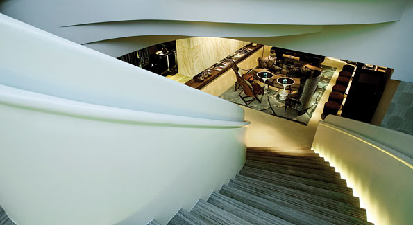 Staircase from Azure Restaurant to Lounge