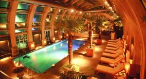 The penthouse pool at the Santiago Ritz-Carlton.