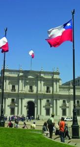 Presidential Square in Santiago.