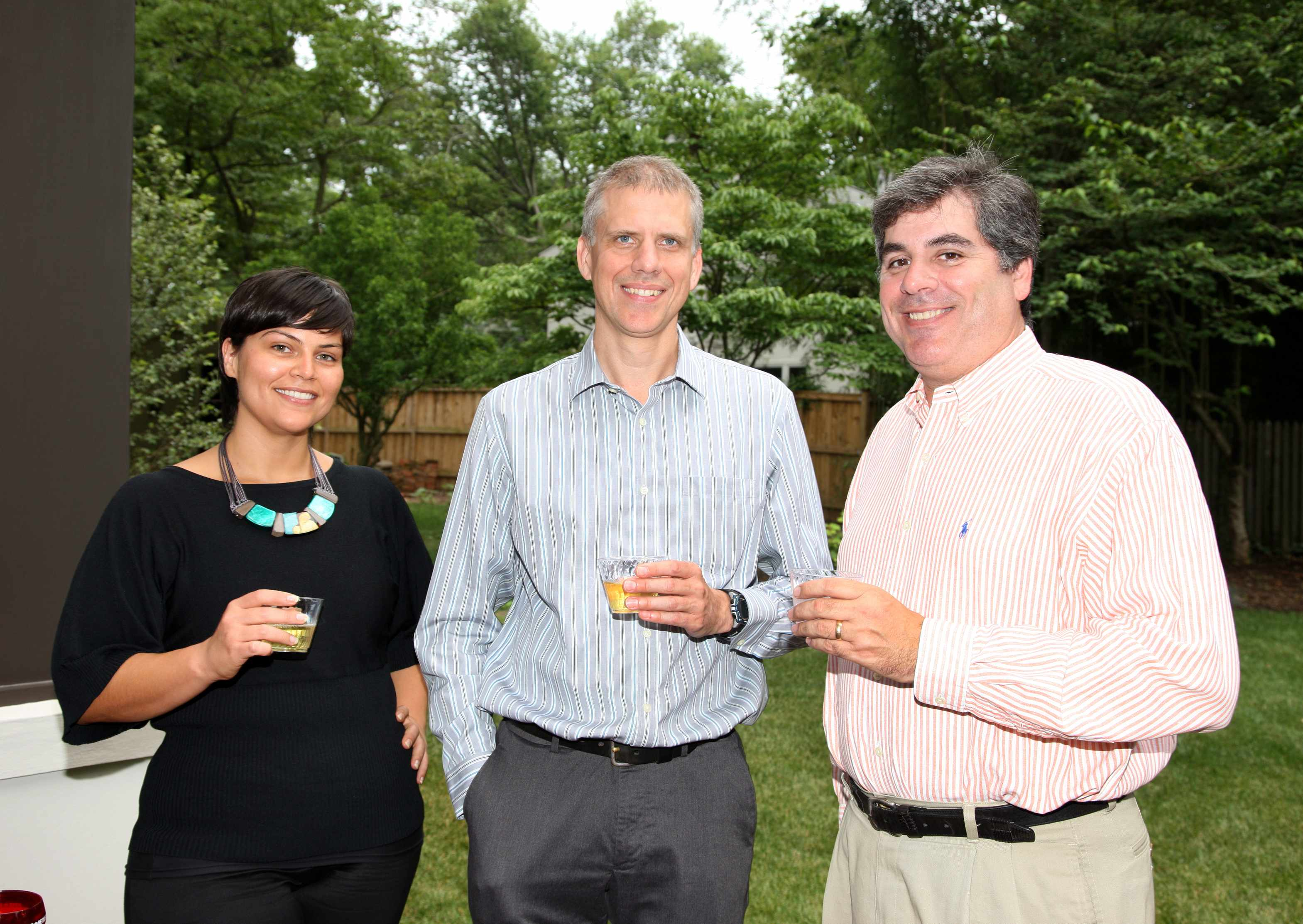 Rill Architects Linda Gallegos, James Murray, and office manager Tom DiMisa.