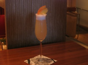 Blue Duck Tavern and The Lounge at Park Hyatt's Peach Pisco