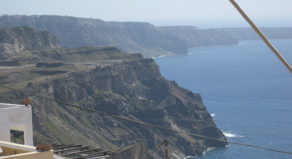 View of the Caldera from the center of Santorini at Fira