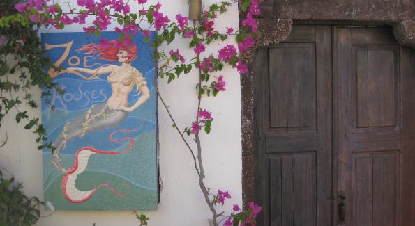 Entrance of Zoe Houses, Oia