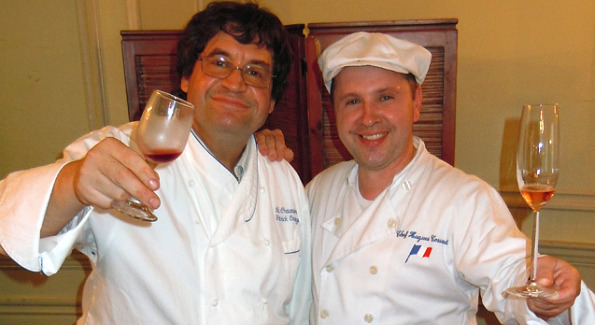 Patrick Orange, the chef/proprietor of Georgetown's La Chaumière restaurant and Hugh Cossard, the owner of Food Expression