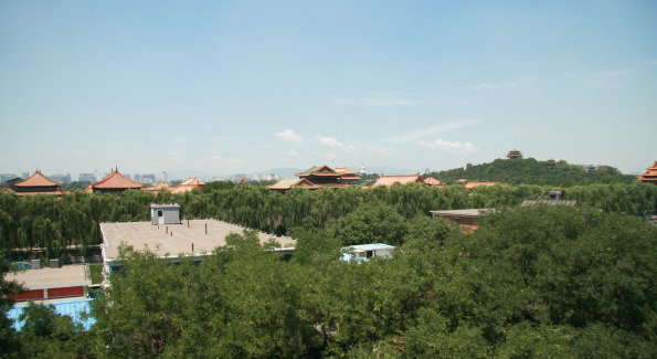 View of the Forbidden City from the Emperor, Beijing Hotel.