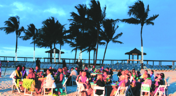 Guests at the Wyndham Nassau Resort