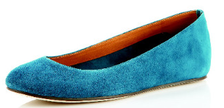 KORS by Michael Kors Olympia suede ballerina flat ($165); Cusp, www.cusp.com.