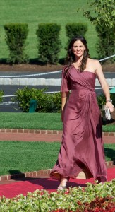 Jennifer Garner arrives at The Greenbrier for the Grand Opening of its news Casino Club.  Courtesy Photo/The Greenbrier