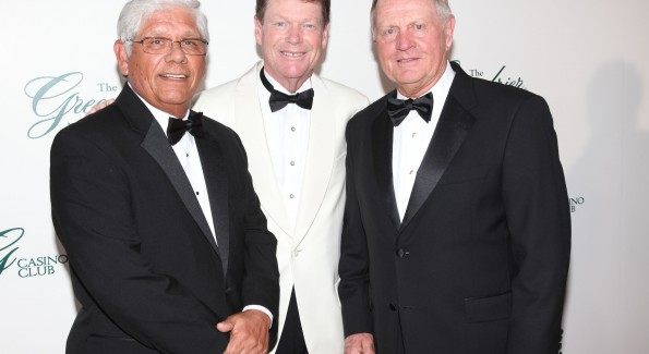 PGA greats Lee Trevino, Tom Watson and Jack Nicklaus at The Greenbrier.  Courtesy Photo/The Greenbrier