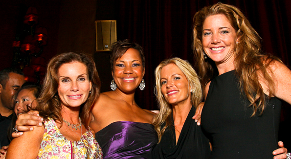 Photo by Tony Powell. Lynda Erkiletian, Stacie Turner, Cat Ommanney, Mary Amons. The Real Housewives of DC Premiere Afterparty. Buddha Bar. August 5, 2010.jpg
