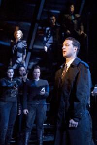 Euan Morton, Jill Paice (background), ensemble. Photo by Scott Suchman.