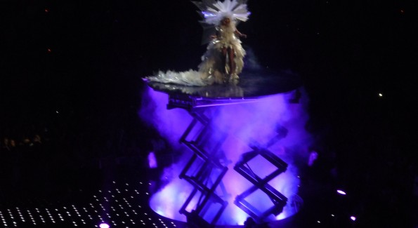 Lady Gaga, the Queen of Pop, rising. Photo by John Arundel