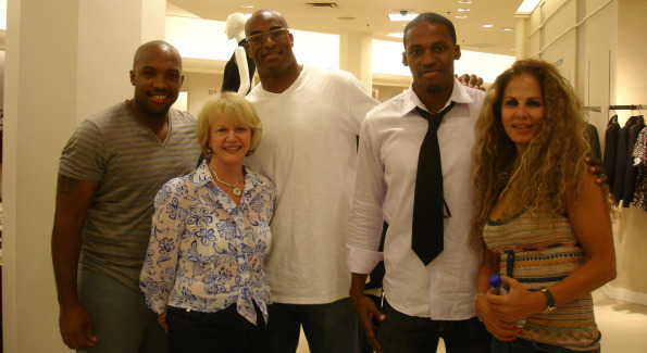Rock Harper, Doreen Drewry Lehr, Andre Carter, Ade Jimoh, and Hiba Hakki. Photo by