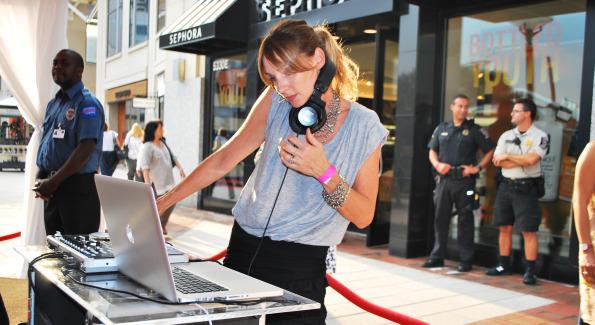 DJ Heather Femia. Photo by Roshan Farazad.