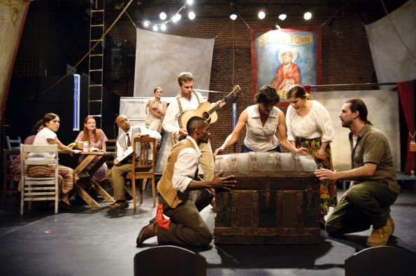 The Saint Plays' full cast. Photo by C. Stanley Photography.