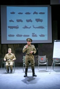 Rick Warden and Vincent Ebrahim in Tricycle Theatre's production of The Great Game: Afghanistan (Black Tulips – by David Edgar). Photo by John Haynes.