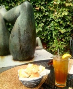 Iced tea and fragrant breads make for a perfect autumn day