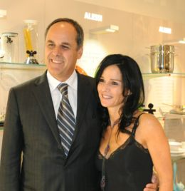 Alessio Alessi and Deborah Klakstein at the Georgetown opening. Photo by Neshan Naltchayan.