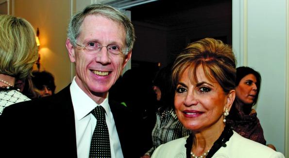 Sir David Manning and Annie Totah