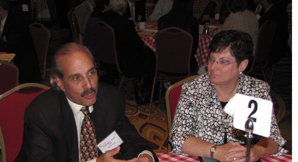 Tom Raffa, pictured with Jeanne Sanders from Volunteer Fairfax, challenges medium-sized businesses to engage more fully with nonprofits. (Photo courtesy of America's Charities)
