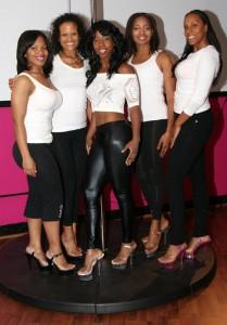 Center: Michaela Brown and The P Spot girls