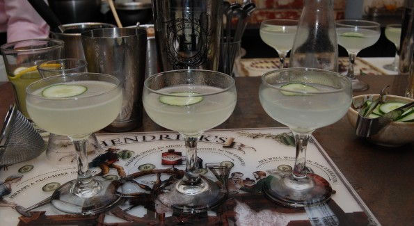 Three versions of the classic Gimlet.