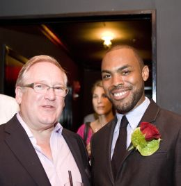 Desmond Payne with Jonathan Harris. Photo by Max Krupka, Washington Executive Photographic Services for Beefeater 24.