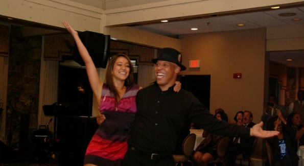 Dr. William Hite and Charo Bishop on the dance floor.